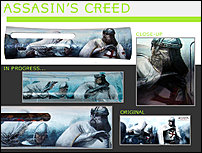 Click image for larger version.  Name:Faceplate Xbox 360 Assassin's creed Altair vs Templar hand painted by Jenni Chasteen.jpg Views:123 Size:101.2 KB ID:7912