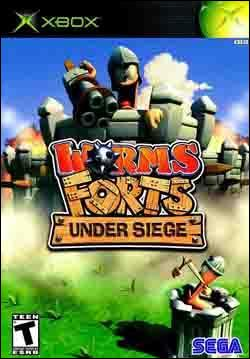 Worms Forts:  Under Siege (Xbox) by Sega Box Art