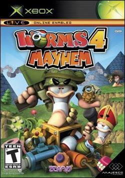Worms 4: Mayhem (Xbox) by Codemasters Box Art