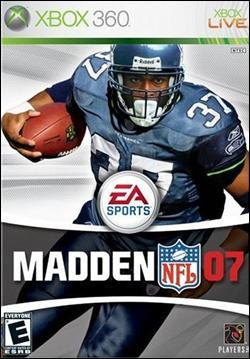 Madden NFL 07 (Xbox 360) by Electronic Arts Box Art