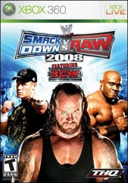 WWE Smackdown vs Raw 2008 (Xbox 360) by THQ Box Art