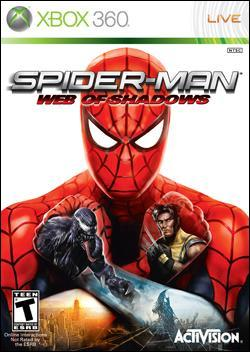 Spiderman: Web of Shadows (Xbox 360) by Activision Box Art