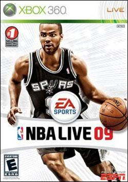 NBA Live 09 (Xbox 360) by Electronic Arts Box Art