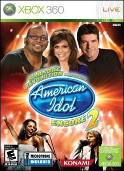 Karaoke Revolution: American Idol Encore 2 (Xbox 360) by Konami Box Art