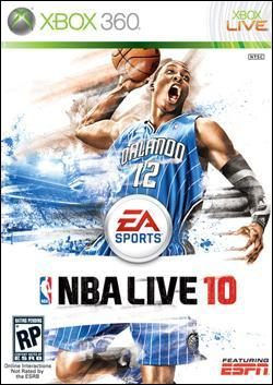 NBA Live 10  (Xbox 360) by Electronic Arts Box Art