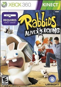 Raving Rabbids: Alive & Kicking (Xbox 360) by Ubi Soft Entertainment Box Art