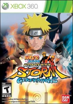 Naruto Shippuden: Ultimate Ninja Storm Generations (Xbox 360) by Namco Bandai Box Art