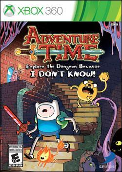 Adventure Time: Explore the Dungeon Because I DON' (Xbox 360) by D3 Publisher Box Art