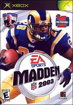 Madden NFL 2003 (Xbox) by Electronic Arts Box Art