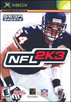 NFL 2K3 Box art