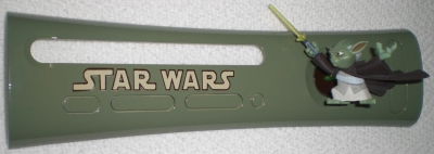 This is a custom plate made using one of the figures from the Star Wars: The Clone Wars animated series on Cartoon Network.