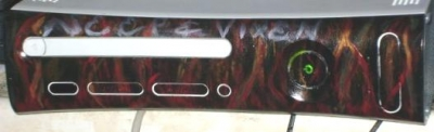 This is a custom faceplate painted by DeviantArtist Reagan8620.