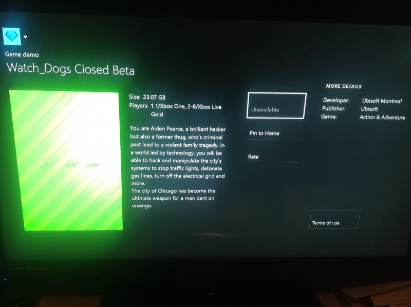 Watch Dogs  Xbox One Update Error