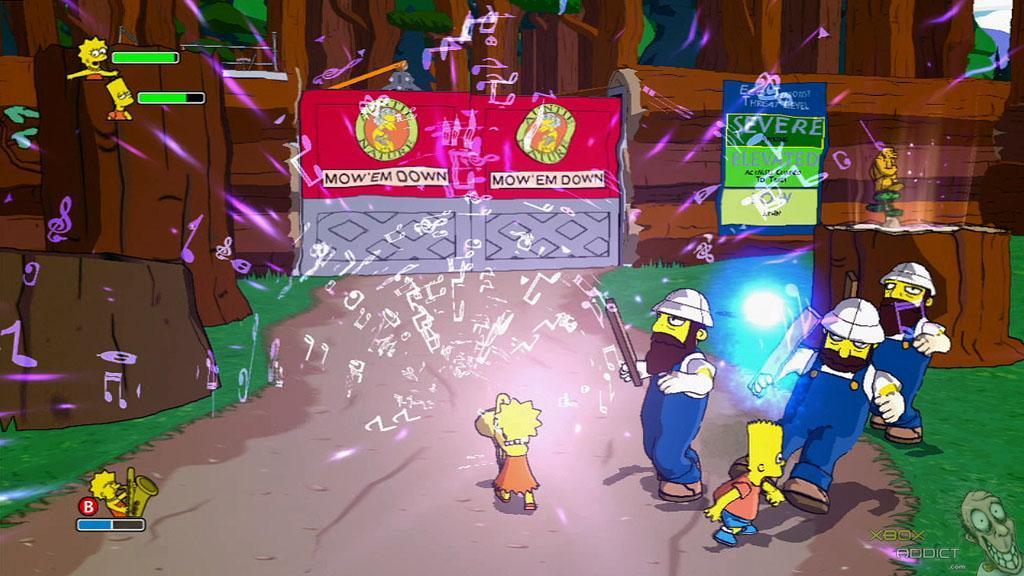 Simpsons Game The Xbox 360 Game Profile Xboxaddict Com